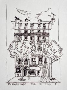181 Avenue du Maine, Paris, France in the 14th arrondissement is a typical apartment building in Pa by Richard Lawrence