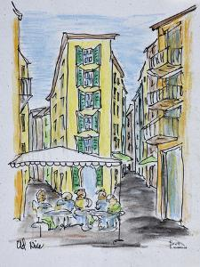 Alfresco dining in Old Nice, Nice, France by Richard Lawrence