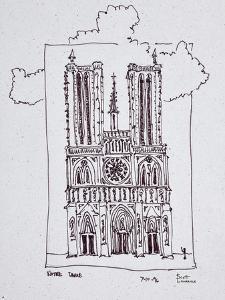 Cathedral Notre-Dame de Paris, Ille de la Cite, Paris, France by Richard Lawrence