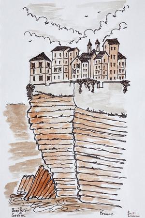 Cliffside city of Bonifacio, Corsica, France