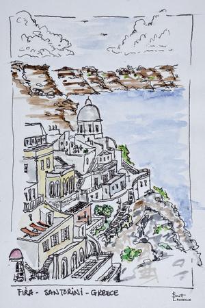 Cliffside town of Fira, Island of Santorini, Greece
