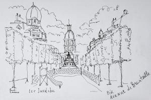 Entrance to Les Invalides, Paris, France by Richard Lawrence