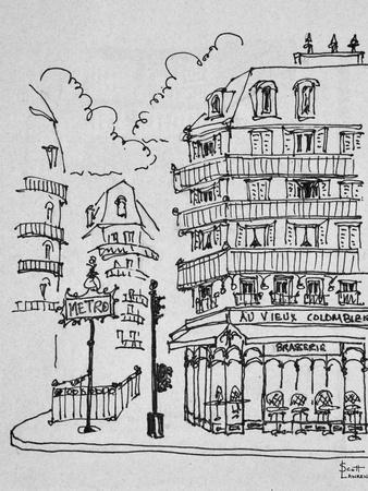 Famous Au Vieux Colombier on Boulevard Raspail, Paris, France