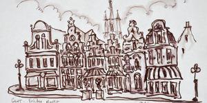 Flemish architecture in the Vrijdagmarkt, Ghent, Belgium by Richard Lawrence