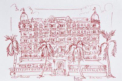 French Art Nouveau architecture of the Carlton Hotel, Cannes, France