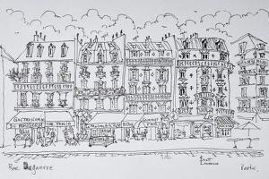 Haussmann style storefronts along Rue Daguerre, Paris, France by Richard Lawrence