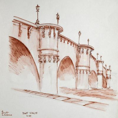 Le Pont Neuf, 'the new bridge', in Paris, France. It was started in 1578 and finished in 1607 and i