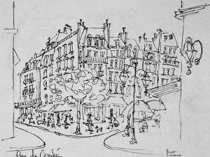 Rue de Conde, Jardin du Luxembourg, Paris, France by Richard Lawrence