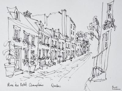 Rue du Petit Champlain, Vieux Quebec, Quebec City, Quebec, Canada