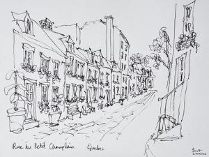 Rue du Petit Champlain, Vieux Quebec, Quebec City, Quebec, Canada by Richard Lawrence