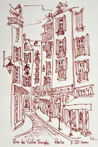 Rue Vieille du Temple in Paris is one of the many narrow streets in Le Marais. by Richard Lawrence