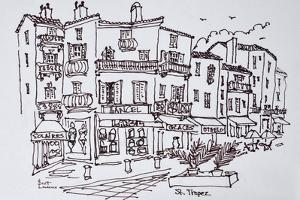 Shopping district, Saint-Tropez, French Riviera, France by Richard Lawrence