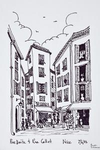 Small square between Rue Droite and Rue Collet, Old Nice, Nice, France by Richard Lawrence