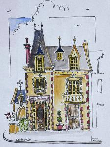 Street view of the Hotel Normandy, Cobourg, Normandy, France by Richard Lawrence