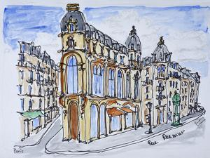 Traditional Haussmann style buildings on Rue Reaumur, Paris, France by Richard Lawrence