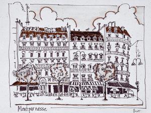 Typical Haussmann architecture along Boulevard Montparnasse, Paris, France by Richard Lawrence