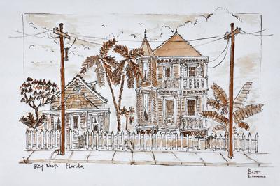 Victorian style 'Conch houses,' Key West, Florida