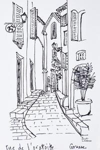 View along Rue de l'oratoire, Grasse, France by Richard Lawrence