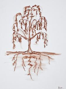 Weeping willow with heart and soul by Richard Lawrence