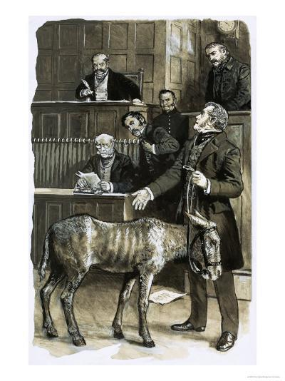 Richard Martin in Court with a Neglected Donkey-Clive Uptton-Giclee Print