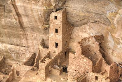 Anasazi Ruins, Square Tower House, Dating from Between 600 Ad and 1300 Ad