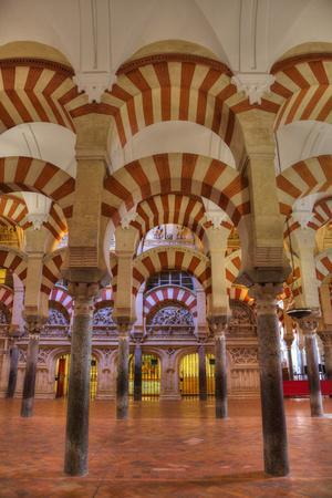 Arches and columns, The Great Mosque and Cathedral of UNESCO World Heritage Site, Spain