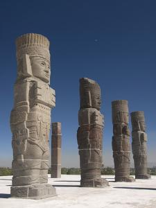 Atlantes Warrior Statues, Temple of Quetzalcoatl, Tula De Allende, Hidalgo, Mexico by Richard Maschmeyer