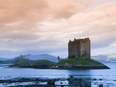 Castle Stalker, Near Port Appin, Argyll, Highlands, Scotland, United Kingdom, Europe