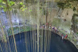 Cenote Ik Kil, Near Chichen Itza, Yucatan, Mexico, North America by Richard Maschmeyer