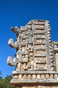 Chac Rain God Masks, the Palace, Xlapak, Mayan Archaeological Site, Yucatan, Mexico, North America by Richard Maschmeyer