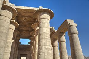 Column Reliefs, Hypostyle Hall, the Ramesseum (Mortuary Temple of Ramese Ii) by Richard Maschmeyer