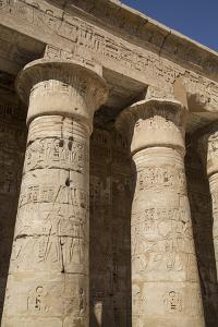 Columns of the Second Court, Medinet Habu (Mortuary Temple of Ramses Iii), West Bank by Richard Maschmeyer