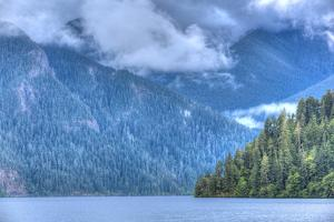 Cresent Lake, Aurora Ridge in the Background, Olympic National Park by Richard Maschmeyer
