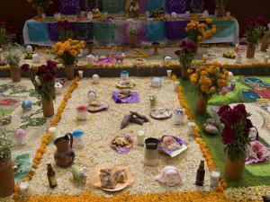 Decorations for the Day of the Dead Festival, Plaza Principal, San Miguel De Allende, Guanajuato by Richard Maschmeyer