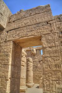 Doorway in the Temple of Khonsu, Karnak Temple, Luxor, Thebes, Egypt, North Africa, Africa by Richard Maschmeyer