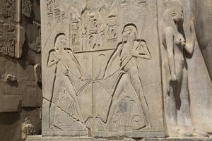 Double Image Relief of Ramses Ii, Luxor Temple, Luxor, Thebes, Egypt, North Africa, Africa by Richard Maschmeyer