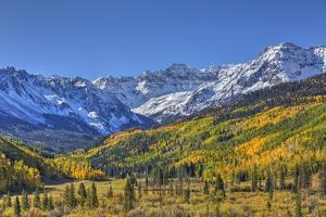 Fall Colors, of Road 7, Sneffle Range in the Background by Richard Maschmeyer