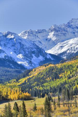 Fall Colors, Road 7, Sneffels Range in the Background