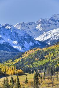 Fall Colors, Road 7, Sneffels Range in the Background by Richard Maschmeyer