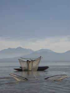 Fishermen with Traditional Butterfly Nets, Lago De La Patzcuaro, Patzcuaro, Michoacan by Richard Maschmeyer