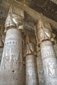 Hathor-Headed Columns, Hypostyle Hall, Temple of Hathor, Dendera, Egypt, North Africa, Africa by Richard Maschmeyer