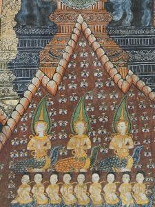 Interior Murals, Wat Pak Huak, Luang Prabang, Laos, Indochina, Southeast Asia, Asia by Richard Maschmeyer