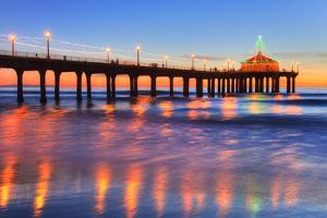 Manhattan Beach Pier at Sunset, Manhattan Beach by Richard Maschmeyer