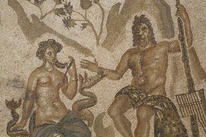 Mosaic of Polifemo and Galatea, Alacazar de los Reyes Cristianos, Cordoba, Andalucia, Spain, Europe by Richard Maschmeyer