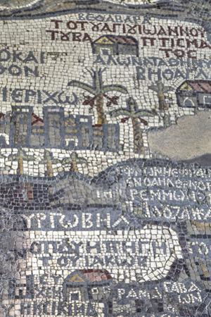 Oldest Map of Palestine, Mosaic, Dated Ad 560, St. George's Church, Madaba, Jordan, Middle East by Richard Maschmeyer