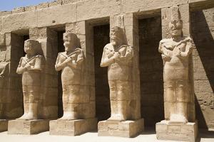 Osiride Statues of Ramses Iii by Richard Maschmeyer