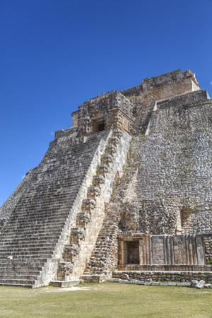 Pyramid of the Magician, Uxmal, Mayan Archaeological Site, Yucatan, Mexico, North America by Richard Maschmeyer