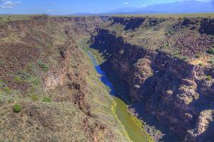 Rio Grande Gorge, Taken from Rio Grande Gorge Bridge, Near Taos, New Mexico, U.S.A. by Richard Maschmeyer