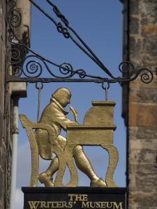 Sign for the Writers' Museum Off the Royal Mile, Edinburgh, Lothian, Scotland, United Kingdom by Richard Maschmeyer