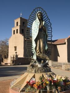 Statue of Our Lady of Guadalupe, El Santuario De Guadalupe Church, Built in 1781, Santa Fe, New Mex by Richard Maschmeyer